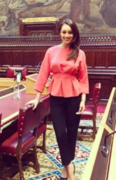 Seema Jaswal delivers a speech in the House of Lords to mark International Womens Day, March 2018