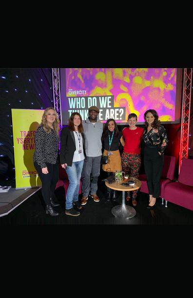 Panelist discussing Diversity <br> BBC