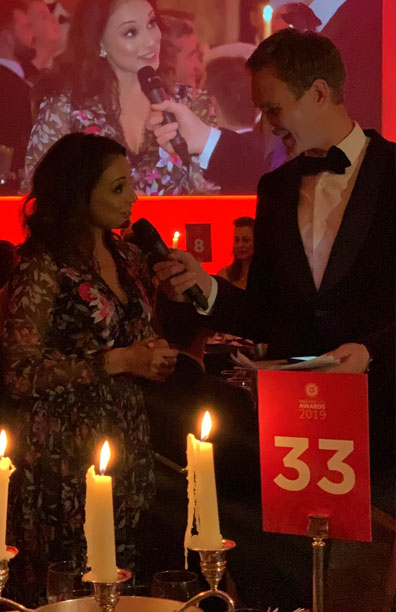 Winners Enclosure Presenter <br> England Golf Awards